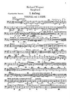 Siegfried (Sigurd), WWV 86c: Bass clarinet part by Richard Wagner