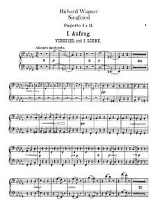 Siegfried (Sigurd), WWV 86c: Bassoons I, II parts by Richard Wagner