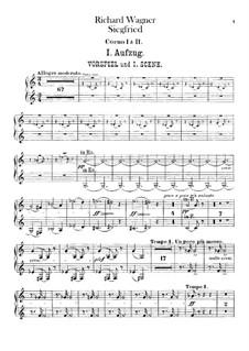 Siegfried (Sigurd), WWV 86c: Horns I, II parts by Richard Wagner