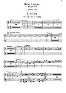 Siegfried (Sigurd), WWV 86c: Horns V-VIII parts by Richard Wagner