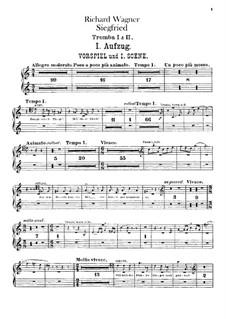 Siegfried (Sigurd), WWV 86c: Trumpets parts by Richard Wagner