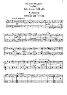 Siegfried (Sigurd), WWV 86c: Tenor and bass tubas parts by Richard Wagner