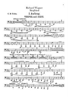 Siegfried (Sigurd), WWV 86c: Contrabass tuba part by Richard Wagner