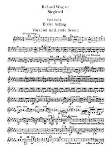 Siegfried (Sigurd), WWV 86c: Violins I part by Richard Wagner