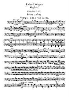 Siegfried (Sigurd), WWV 86c: Cellos part by Richard Wagner
