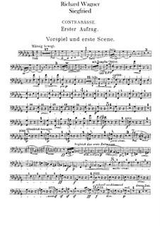 Siegfried (Sigurd), WWV 86c: Double basses part by Richard Wagner