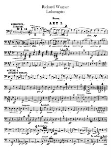 Complete Opera: Double bass part by Richard Wagner