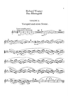 The Rhine Gold, WWV 86a: Violins II part by Richard Wagner