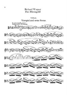 The Rhine Gold, WWV 86a: Violas part by Richard Wagner