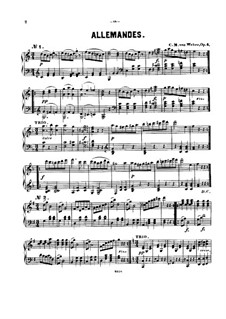 Twelve Allemandes, Op.4: Allemandes No.1-10, J.15–24 by Carl Maria von Weber