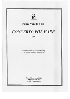 Concerto for Harp and String Orchestra: Full score by Nancy Van de Vate