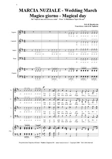 Wedding March: For voices and organ by Felix Mendelssohn-Bartholdy