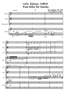 Four letters for Sancho, Op.27: Four letters for Sancho by Nino Janjgava