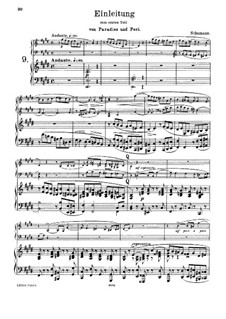 Paradise and the Peri, Op.50: Introduction to Act I, for harmonium and piano by Robert Schumann
