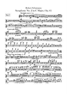 Symphony No.2 in C Major, Op.61: Flutes parts by Robert Schumann