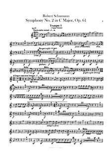 Symphony No.2 in C Major, Op.61: Trumpets parts by Robert Schumann