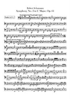Symphony No.2 in C Major, Op.61: Timpani part by Robert Schumann