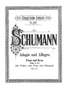 Adagio and Allegro, Op.70: Score by Robert Schumann