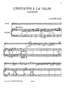 Transcription on 'Invitation to the Dance' by Weber, Op.22: Transcription on 'Invitation to the Dance' by Weber by Jules Danbé