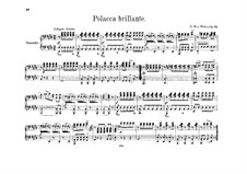 Polonaise Brilliant, J.268 Op.72: For piano four hands by Carl Maria von Weber