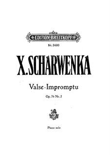 Two Pieces, Op.76: No.2 Valse-Impromptu by Xaver Scharwenka