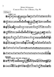 Concert Piece for Four French Horns and Orchestra, Op.86: Trombones parts by Robert Schumann