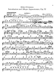 Introduction and Allegro Appassionato, Op.92: Flutes parts by Robert Schumann