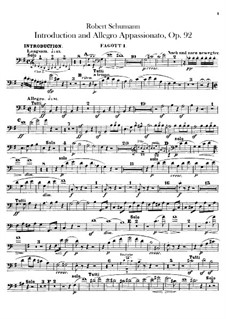 Introduction and Allegro Appassionato, Op.92: Bassoons parts by Robert Schumann