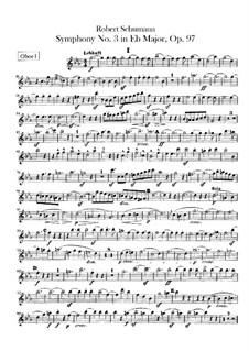 Symphony No.3 in E Flat Major 'Rhenish', Op.97: Oboes parts by Robert Schumann