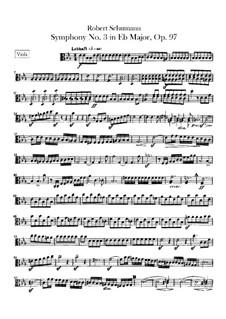 Symphony No.3 in E Flat Major 'Rhenish', Op.97: Viola part by Robert Schumann