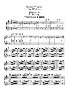 The Valkyrie , WWV 86b: Flutes parts by Richard Wagner