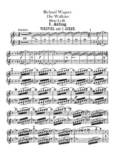 The Valkyrie , WWV 86b: Oboes parts by Richard Wagner