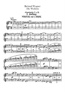 The Valkyrie , WWV 86b: Clarinets parts by Richard Wagner