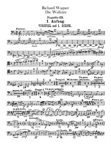 The Valkyrie , WWV 86b: Bassoon III part by Richard Wagner