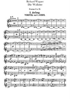 The Valkyrie , WWV 86b: French horns I, II parts by Richard Wagner