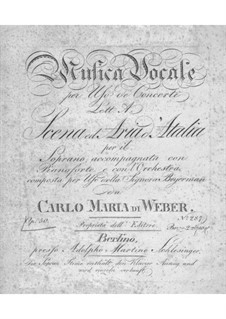 Misera me. Scena ed aria d'Atalia, J.121 Op.50: Scena and Aria 'Misera me' for Voice and Orchestra (or Piano) by Carl Maria von Weber