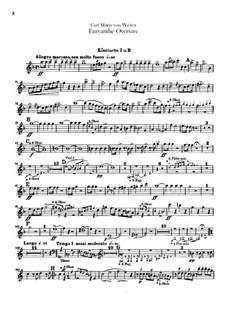 Overture: Clarinets parts by Carl Maria von Weber