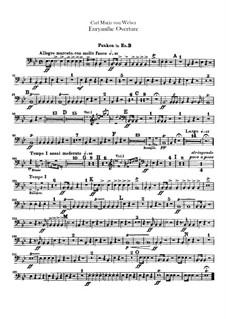 Overture: Timpani part by Carl Maria von Weber