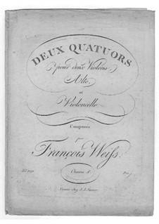 Two String Quartets, Op.8: Two String Quartets by Franz Weiss