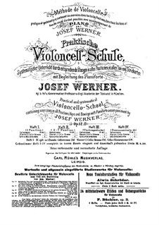 Practical Method for Violoncello with Piano Accompaniment, Op.12: Book II by Josef Werner