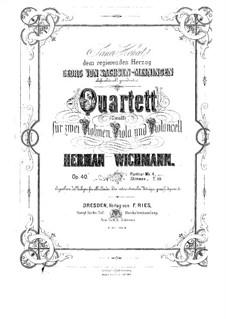 String Quartet in C Minor, Op.40: String Quartet in C Minor by Hermann Wichmann