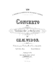 Cello Concerto in E Minor, Op.41: Score by Charles-Marie Widor