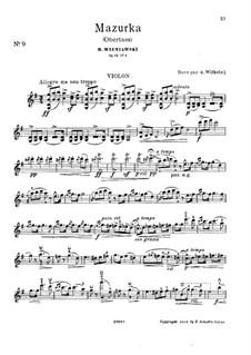 Two Characteristic Mazurkas, Op.19: Mazurka No.1 Obertas – solo part by Henryk Wieniawski