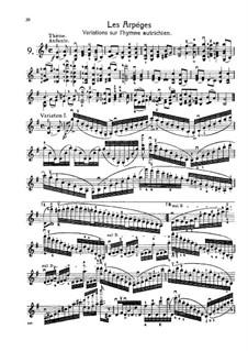 L'école moderne. Eight Etudes for Violin, Op.10: No.9 Les arpéges (variations on the austrian hymn) by Henryk Wieniawski