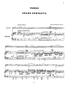 Concerto for Violin and Orchestra No.1, Op.14: Version for violin and piano by Henryk Wieniawski