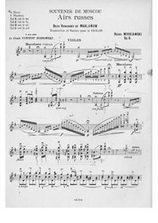 Souvenir de Moscou for Violin and Piano, Op.6: Solo part by Henryk Wieniawski