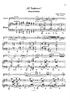All' ungherese (after Franz Liszt): For violin and piano by August Wilhelmj