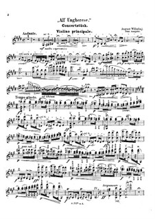 All' ungherese (after Franz Liszt): For violin and piano – violin part by August Wilhelmj