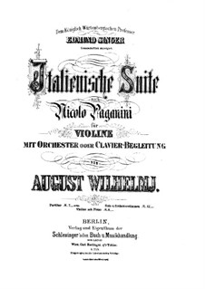 Italian Suite after Paganini: For violin and orchestra by August Wilhelmj