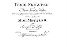 Three Sonatas for Piano Trio, Op.16: Piano part by Joseph Woelfl